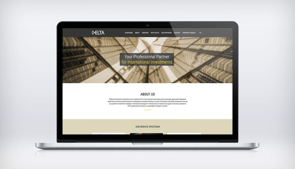 Webdesign für Delta International Investment